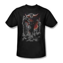 Superman - Above The Clouds Adult T-Shirt In Black