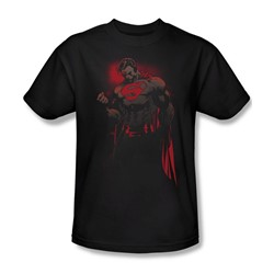 Superman - Red Son Adult T-Shirt In Black