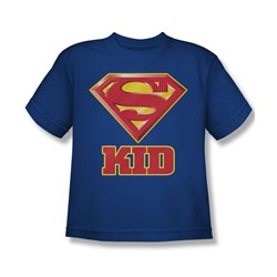 Superman - Super Kid Youth T-Shirt In Royal Blue