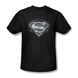 Superman - Biker Metal Adult T-Shirt In Black