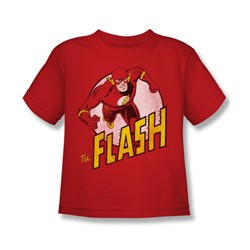 Dc Comics - The Flash Little Boys T-Shirt In Red