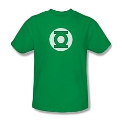 Dc Comics - Green Lantern Logo Adult T-Shirt In Kelly Green