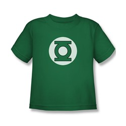 Dc Comics - Green Lantern Logo Juvy T-Shirt In Kelly Green