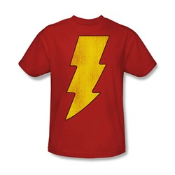 Dc Comics - Shazam Logo Distressed Adult T-Shirt In Red