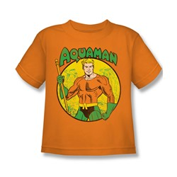 Dc Comics - Aquaman Little Boys T-Shirt In Orange
