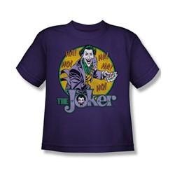 Dc Comics - The Joker Big Boys T-Shirt In Purple