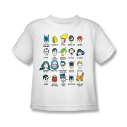 Dc Comics - Superhero Issues Little Boys T-Shirt In White