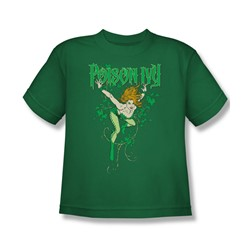 Dc Comics - Poison Ivy Big Boys T-Shirt In Kelly Green