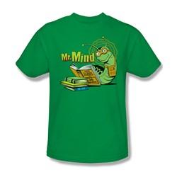 Dc Comics - Mr. Mind Adult T-Shirt In Kelly Green