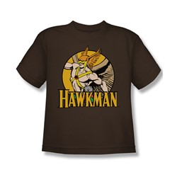 Dc Comics - Hawkman Circle Big Boys T-Shirt In Coffee