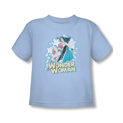 Dc Comics - I'M Wonder Woman Toddlers T-Shirt In Light Blue Sheer