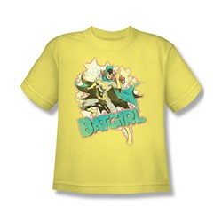 Dc Comics - I'M Batgirl Big Boys T-Shirt In Banana Sheer