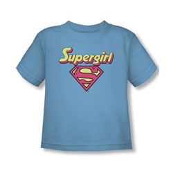 Dc Comics - I'M A Supergirl Toddlers T-Shirt In Sky Blue Sheer