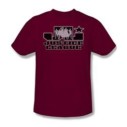 Justice League - Jl Logo Adult T-Shirt In Cardinal