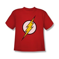 Justice League - Flash Logo Big Boys T-Shirt In Red