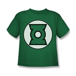 Justice League - Green Lantern Logo Juvy T-Shirt In Kelly Green