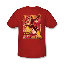Justice League - Flash Adult T-Shirt In Red