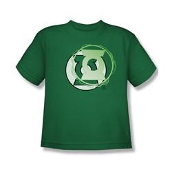 Justice League - Gl Energy Logo Big Boys T-Shirt In Kelly Green