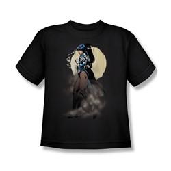 Justice League - Zatanna Illusion Big Boys T-Shirt In Black