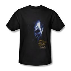 Batman - Arkham Joker Adult T-Shirt In Black