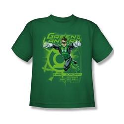 Green Lantern - Sector 2814 Big Boys T-Shirt In Kelly Green