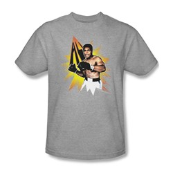 Muhammad Ali - Power Punch Adult T-Shirt In Charcoal