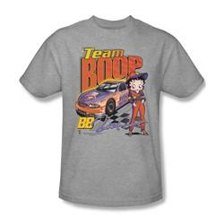 Betty Boop - Team Boop Adult T-Shirt In Heather