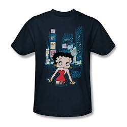 Betty Boop - Boop Square Adult T-Shirt In Navy