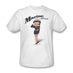 Betty Boop - Marine Boop Adult T-Shirt In White