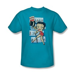 Betty Boop - Comic Strip Adult T-Shirt In Turquoise