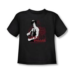 Bruce Lee - Little Dragon Toddler T-Shirt In Black