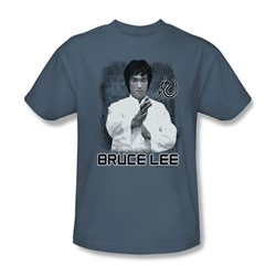 Bruce Lee - Concentrate Adult T-Shirt In Slate