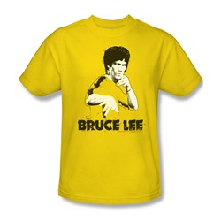 Bruce Lee - Yellow Splatter Suit Adult T-Shirt In Yellow