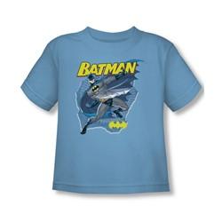 Batman - Taste The Metal Toddler T-Shirt In Carolina Blue