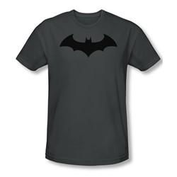 Batman - Hush Logo Slim Fit Adult T-Shirt In Charcoal