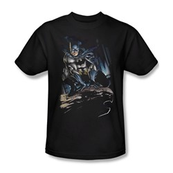 Batman - Perched Adult T-Shirt In Black