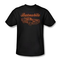 Batman - Batmobile Adult T-Shirt In Black