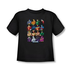 Batman - Cast Of Characters Toddler T-Shirt In Black