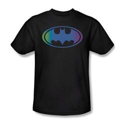Batman - Gradient Bat Logo Adult T-Shirt In Black