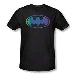 Batman - Gradient Bat Logo Slim Fit Adult T-Shirt In Black