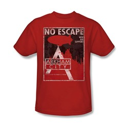 Batman: Arkham City - No Escape Adult T-Shirt In Red