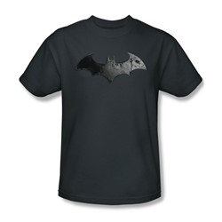 Batman: Arkham City - Bat Logo Adult T-Shirt In Charcoal