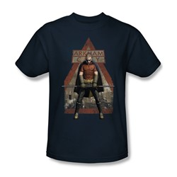 Batman: Arkham City - Arkham Robin Adult T-Shirt In Navy