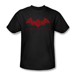 Batman: Arkham City - Red Bat Adult T-Shirt In Black