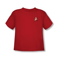 Star Trek - Engineering Uniform Toddler T-Shirt In Red
