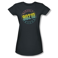 Beverly Hills 90210 - Color Blend Logo Juniors T-Shirt In Charcoal