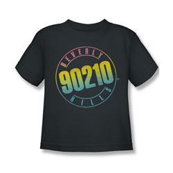 Beverly Hills 90210 - Color Blend Logo Juvee T-Shirt In Charcoal