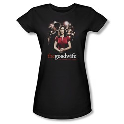 The Good Wife - Bad Press Juniors T-Shirt In Black