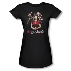 The Good Wife - Bad Press Juniors T-Shirt In Black