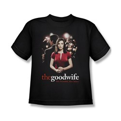 The Good Wife - Bad Press Big Boys T-Shirt In Black